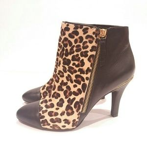 Sofft women's leopard boots ankle size 8